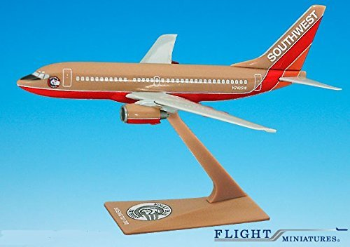 Southwest Nolan Ryan 737-700 Airplane Miniature Model Plastic Snap-Fit 1200 Part ABO-73770H-200