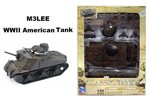 NEWRAY 132 CLASSIC TANK MODEL KIT - M3LEE WWII AMERICAN TANK