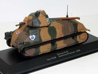 Somua S-35 1ere DLM - Quesnoy 1940 Diecast Model Tank
