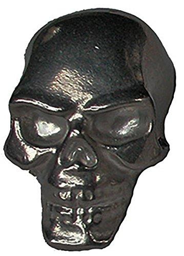 Black Tungsten Skull Weight for Pinewood Derby - Hollow Eyes