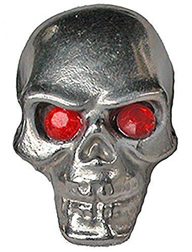 Pinewood Derby Tungsten Skull Weight -Red Jewel Eyes