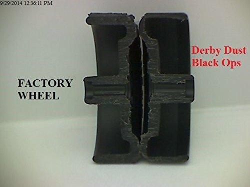Pinewood Derby Speed Wheels - Derby Dust Black Ops - Black