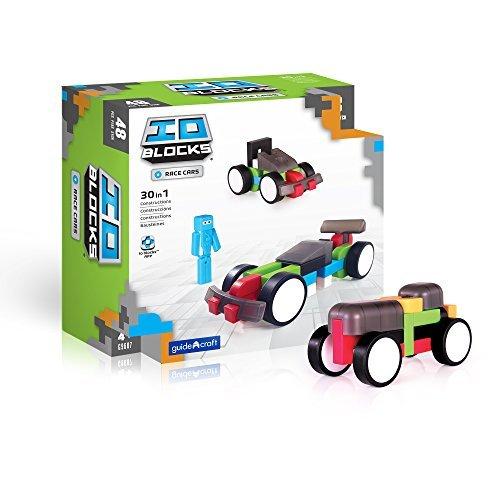 Guidecraft G9607 IO Blocks Race Cars Set Building Kit by Guidecraft