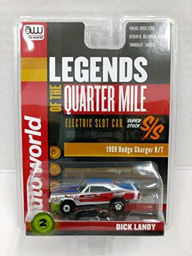 Auto World SC319 Legends of the Quarter Mile Dick Landy 1969 Dodge Charger RT Super Stock HO Scale Electric Slot Car