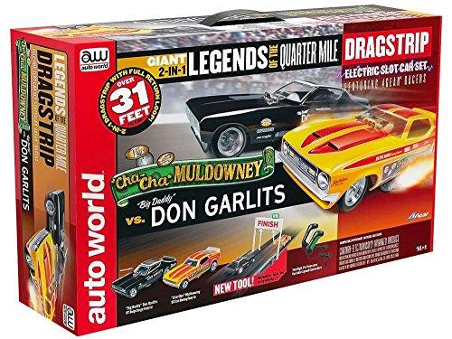 Auto World Legends of the Quarter Mile Dragstrip HO Scale Slot Racing Set 31