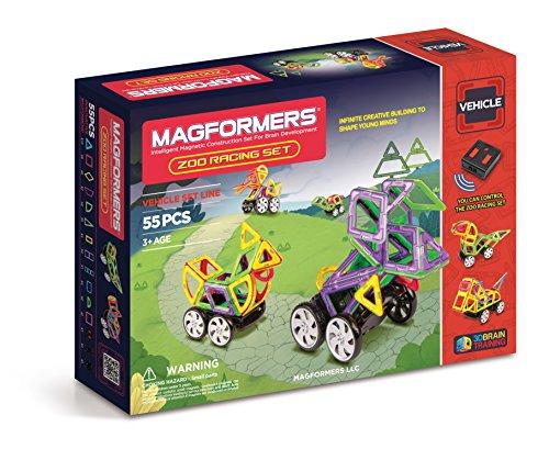 Magformers Vehicle Zoo Racing Set 55-pieces