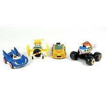 Sonic Sega AllStars Racing Set of 4 Racer Vehicles with 15 Inch Figures
