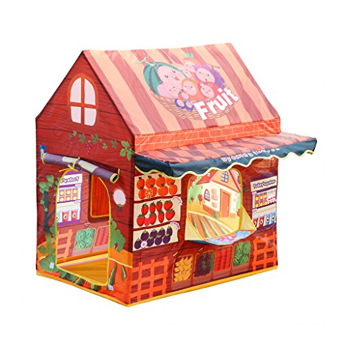 Excelvan Fruit Shop Childrens Tent Fun Play House Xmas Gift for Kids Indoor and Outdoor with Fruits