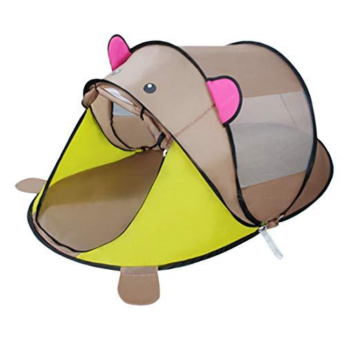 Lingxuinfo Kids Play Tent Play House for Girls Boys Indoor and Outdoor Fun Plays Cartoon Animal Shape