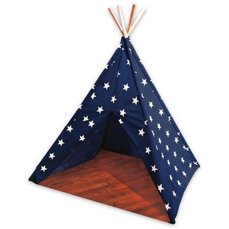Childrens Teepee Tent NavyWhite Stars