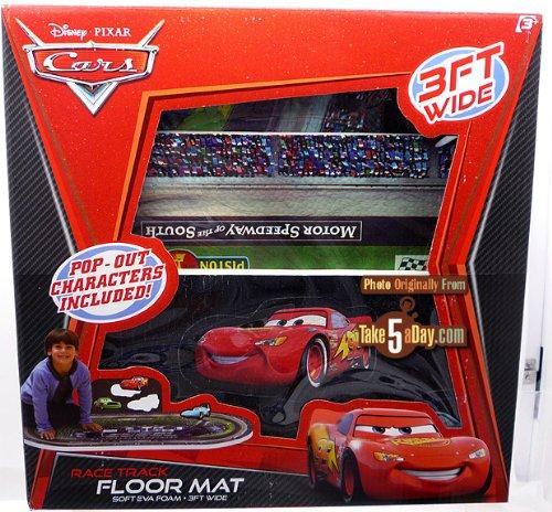 Cars race track foam floor mat Disney Pixar