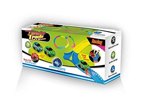 Mindscope Twister Tracks 255 BUMP GO RACE SET Neon Glow in the Dark Series As Seen on TV Neo Tracks