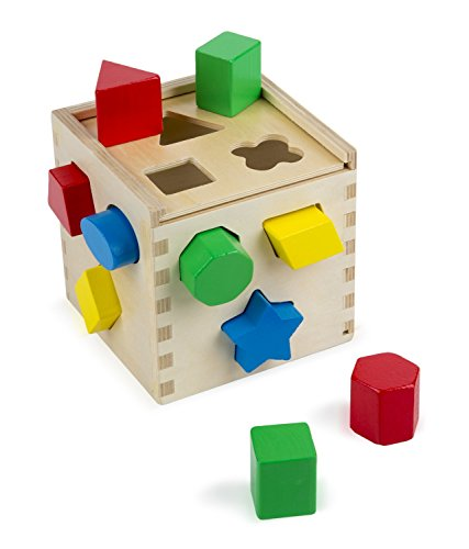 SMATTER Wooden Shape Sorting Box 13 Hole Cube For Shape Sorter Cognitive And Matching Wooden Toys