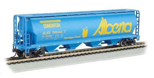 Bachmann Industries Canadian 4-Bay Cylindrical Grain Hopper Alberta Train Car N Scale