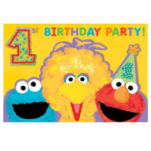 Sesame Street 1st Birthday - Invitations 20