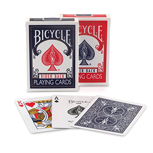 Bicycle 807 Rider Back Index Playing Cards Assorted Colors Single Pack