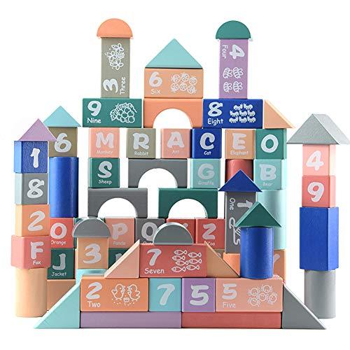 RONSHIN Play for 82PCSSet Macarons Alphabet Building Blocks Children Puzzle Early Educational Shape Cognitive Toys