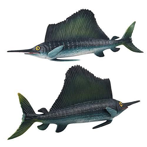 XuBa 1PC Cool Simulate Sea Animal Shape Cognitive Toy Sailfish 92g