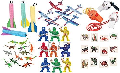 120 piece Boys Party favor Toy Assortment Bundle Pack Pinata filler Kids Grab Bags Carnival prizes