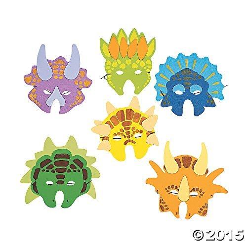 Lot of 12 Child Size Foam Dinosaur Masks Boys Party Favors