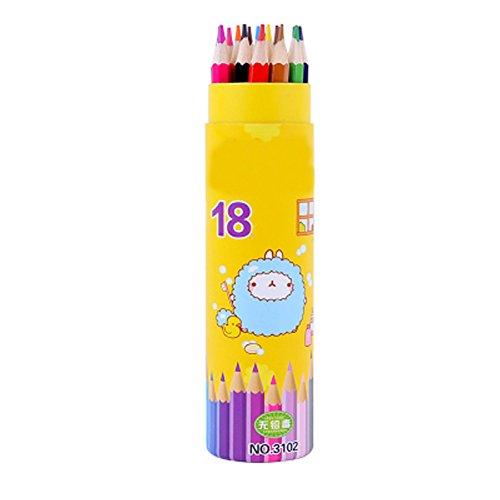 18 Pcs Children Colour Wax Crayon Water Soluble Color Pencil Watercolor Pencil Paint Brush Kids Painting Tools18 Colors