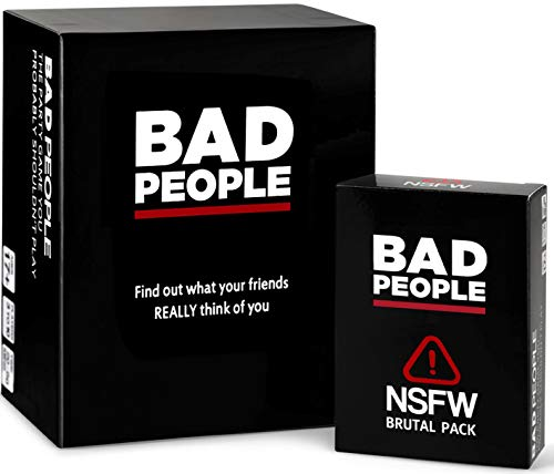 BAD PEOPLE - The Savage Party Game You Probably Shouldnt Play  The NSFW Brutal Expansion Pack