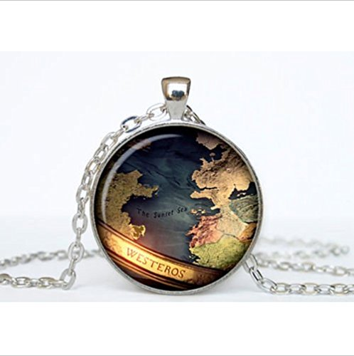 Map Game of Thrones Pendant Game of Thrones Necklace Game of Thrones