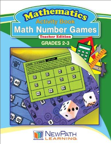 NewPath Learning Math Number Games Reproducible Workbook Grade 2-3