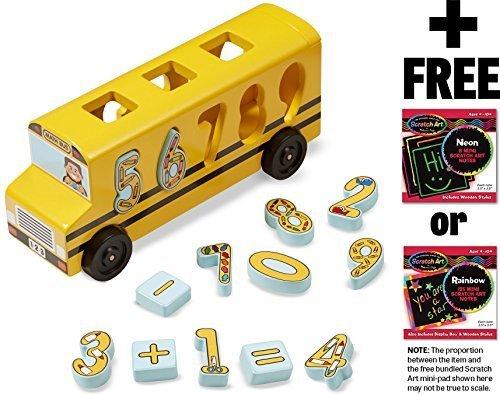 Number Game Math Bus  FREE Melissa Doug Scratch Art Mini-Pad Bundle 93989
