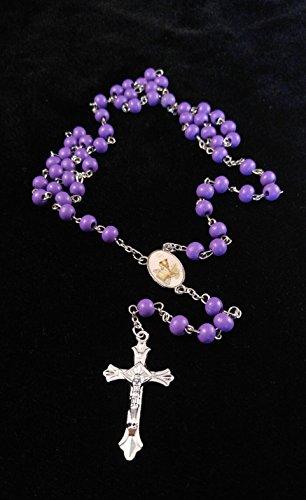 Baptism 12 Wood Purple Rosaries With Gift Box Favors Boy Party Pack 12 Rosarios Azules De Madera En Caja De Regalo Bautizo Ninos