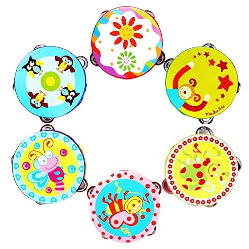 Start Kids Tambourine Children Musical Instrument Jingle Percussion Toy HandBell Gift