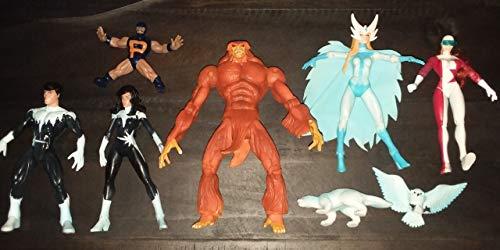 Toy Biz 1999 Marvel Previews Exclusive Alpha Flight Action Figure Set of 6 Complete X-Men