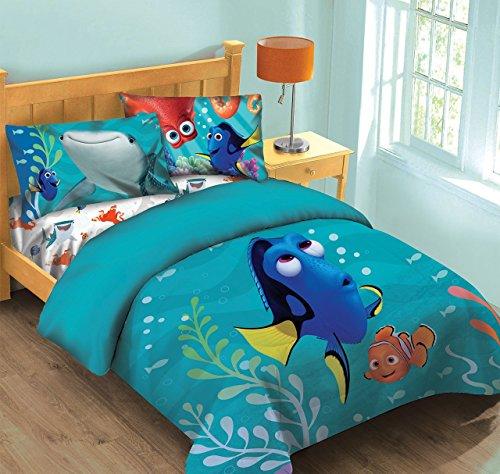 Disney Finding Dory Fish Finder Full Comforter Set wFitted Sheet
