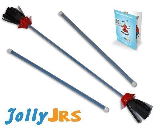 Blue Jolly Jrs Youth Beginner Juggling Flower Sticks by Jolly Lama