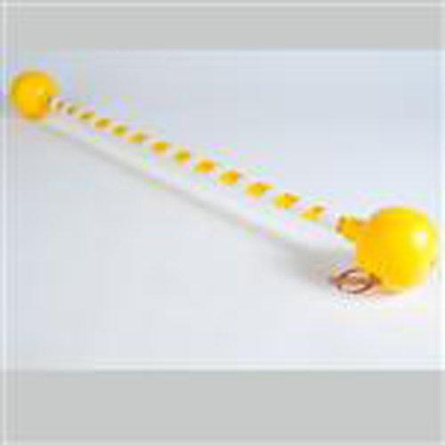 Mister Babache Atomium Devil Stick - Yellow White