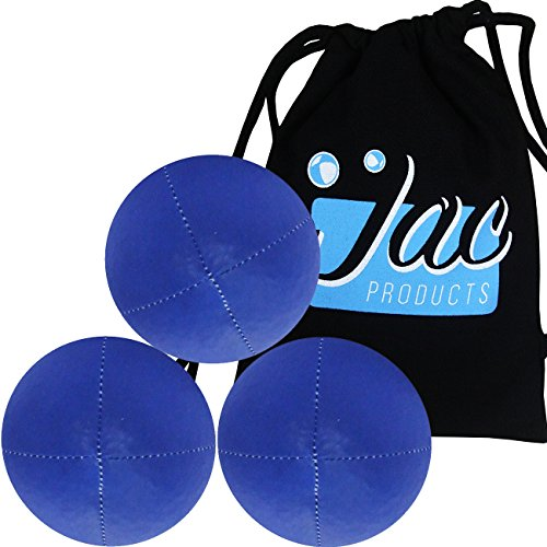 Set of 3 Blue Jac Products 120g Professional Thud Juggling Balls with Carry Bag