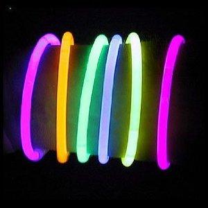 1000 8 Lumistick Glow Light Stick Bracelets -- Wholesale Pack 10 Tubes of 100