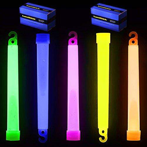 6 Premium Lumistick Glow Light Sticks Mixed Colors 50 Sticks