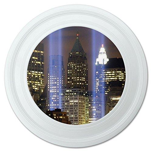 New York City Skyline Sky Lights Novelty 9 Flying Disc