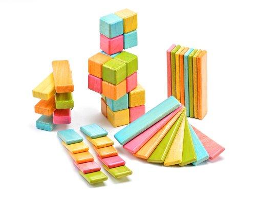 52 Piece Tegu Original Magnetic Wooden Block Set Tints