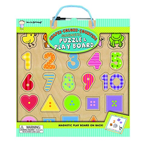 Innovative Kids Now Im Growing Magnetic Puzzle Play Boards Shapes Colors Counting Puzzle
