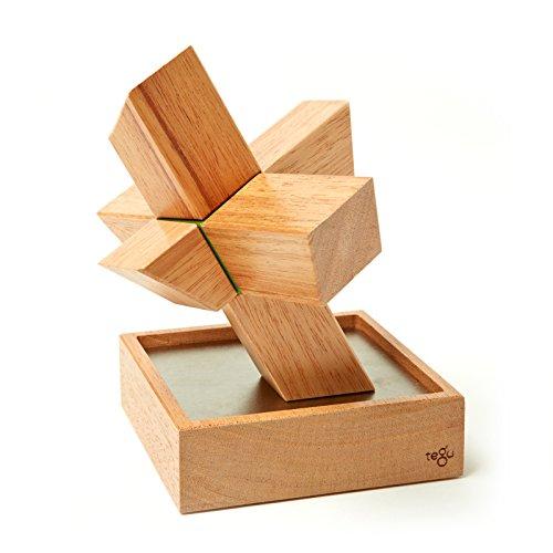 8 Piece Tegu Asterisk Magnetic Wooden Block Set Mahogany