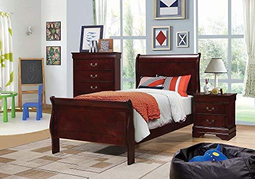Coaster Home Furnishings Louis Philippe 2-Drawer Nightstand Cherry RectangularBrownTraditionalCherry