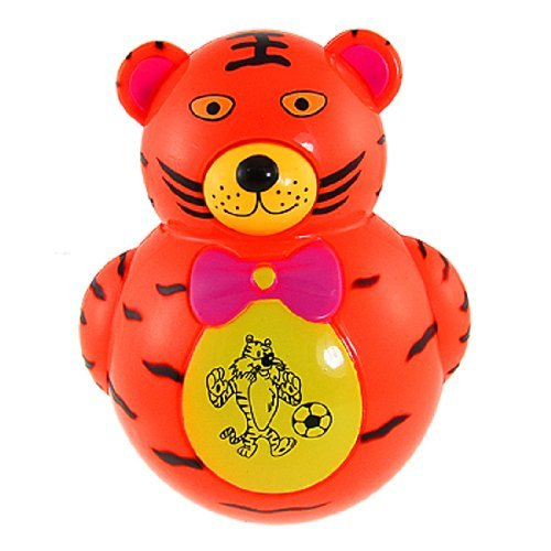 SODIALR Children Red Flashing Light Lamp Plastic Tiger Tumbler Roly Poly Toy