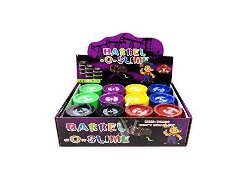 12 Barrel O Slime 5 oz Assort Color Child GaG Gift Party Favors Bag Fillers