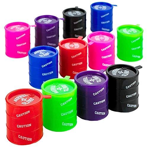 Kicko Small Barrels of Slime - Colorful Sludgey Slime 12 Pack