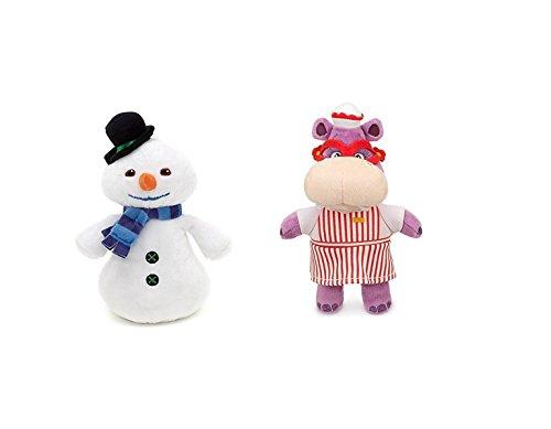 Disney Junior Jr Doc McStuffins 8 14 CHILLY Beanbag Snowman and 8 Hallie Hippo Bean Bag Plush Doll