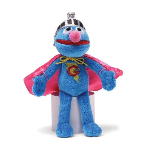Gund Sesame Street Super Grover Beanbag Stuffed Animal