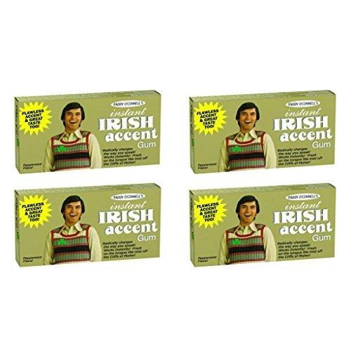 BlueQ Instant Irish Accent Gum 4 packs per order