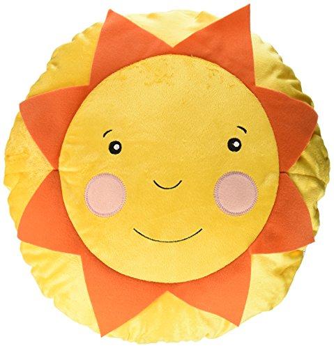 Ikea Soligt Cushion Pillow Yellow Orange Smiling Sunshine Accent Kids Children Toy Throw
